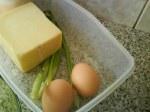 Keju, Telur, Daun Bawang