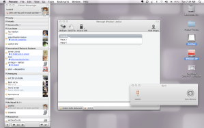 YM For Mac, iSync, Virtual OS made by Parallel kat desktop.